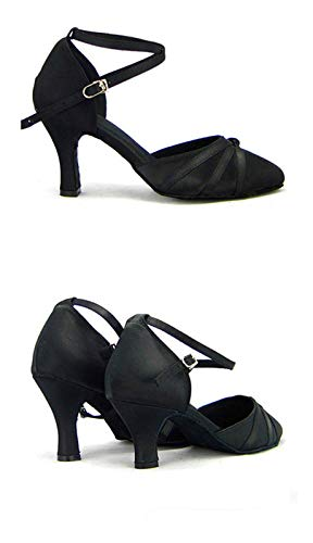 a dance with the shoes height Latin Black in dance shoes heel dance of Latin Women's square ShangYi shoes shoes 8cm dance ExZaqaw4