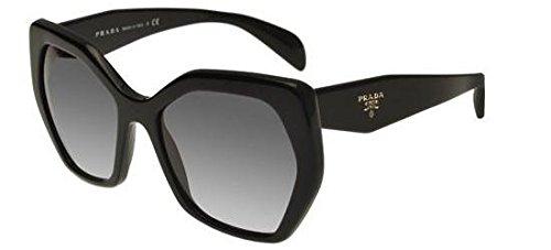 Prada Women's PR 16RS Black/Grey Gradient, 56mm (Prada Pr)