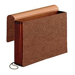 Pendaflex Premium Reinforced 5 inch Expansion Wallets, Legal Size, Red Fiber,  5 per Box (60575) Tyvek Expandable Wallet