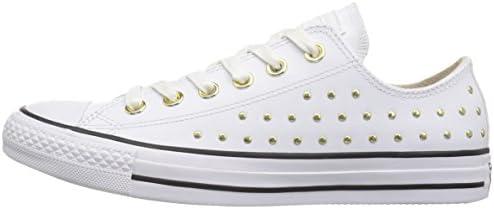 Converse Women's CTAS OX WhiteGold Sneaker, Optical, 5 M US