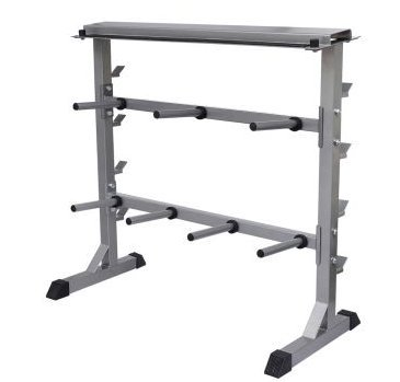 SKB Family Dumbbell Barbell Rack shelves exercise protect floor home gym environment heavy duty steel for years of use by SKB family