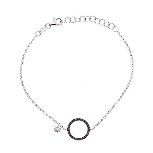 & You - Bracelet Chaîne - Argent 925 - Access - Diamant 0.2 cts - 18 cm - AM-AGBRAC CIRC 020