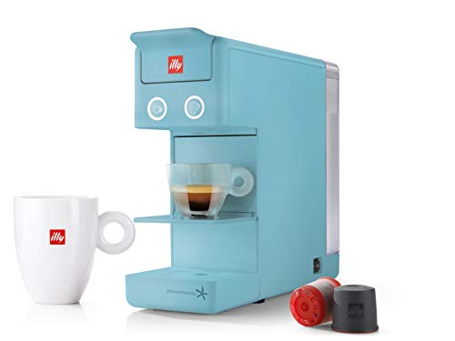 illy 60332 y3.2 Espresso and Coffee Machine, 12.20×3.9×10.40, Blue