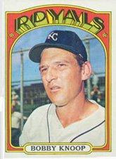 - 1972 Topps Regular (Baseball) card#664 Bobby Knoop of the Kansas City Royals Grade Very Good