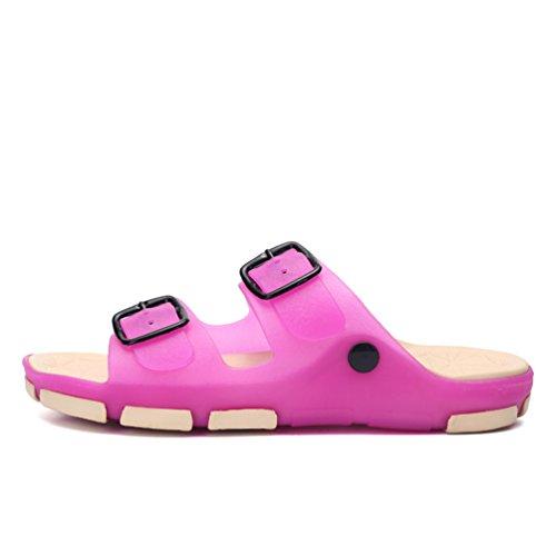 Hishoes - Zapatillas de estar por casa de pvc para hombre rosa (b)
