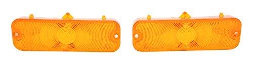 1964 Parking Light Lens, Amber Amber Trim Parts A4247 Parking Light Lens