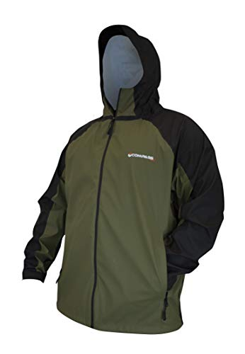 Jacket Compass - COMPASS 360 Pilot Point Waterproof Breathable Rain Jacket (3X-Large, Black & Olive)