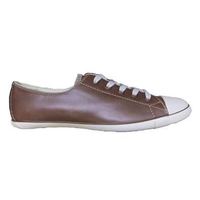 new style 5b172 63432 Converse All Star light OX Chucks 505623 Leder brown: Amazon ...