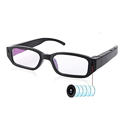 Spy Camera Glasses, OnefunTech HD 1080P Video Camera Glasses Eye Glasses Hidden Cameras Spyglasses Camera Video Recording Glasses Mini Eyewear DVR Hidden Cam by OnefunTech