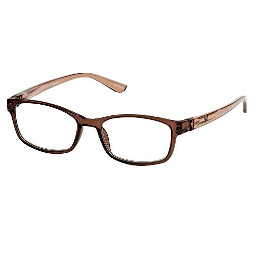 Bunny Eyez Ruthie Wearable, Tilt-able, Flip-able Women's Reading Glasses - Caramel Brown Crystal (+1.50)