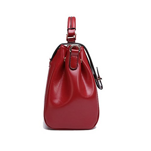 Blue Ladies Handbag Handle Pu Leather Retro TM Red Womens Satchel Top Bag rPZwftrq
