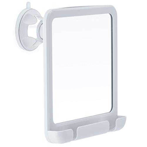 2019 Fogless Shower Mirror for Fog Free Shaving with Razor Holder and Sticky Suction-Cup, Shatterproof and Portable, 8