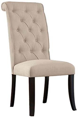 Yopih Tripton Dining UPH Side Chair Linen Fabric Set of 2