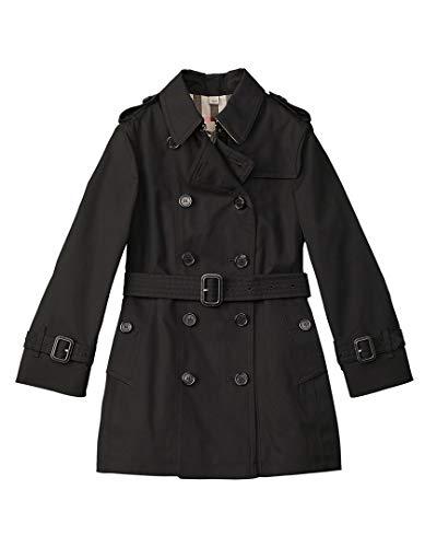BURBERRY Girls Trench Coat, 6Y, Black
