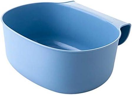 Estilo Europeo Hogar Cocina Gabinete Armario Puerta Contenedor de Basura Dise/ño Colgante Contenedor de Basura Papelera Caja de Almacenamiento Azul