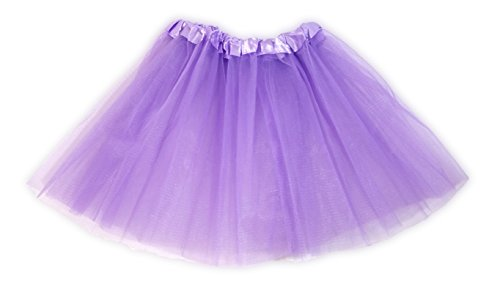 Ballerina Toddler Child Costumes (Tutu Ballet Party Dress Skirt for Girls and Toddlers - Ballerina or Princess Dress Up Pretend Play Costume (Light Purple))