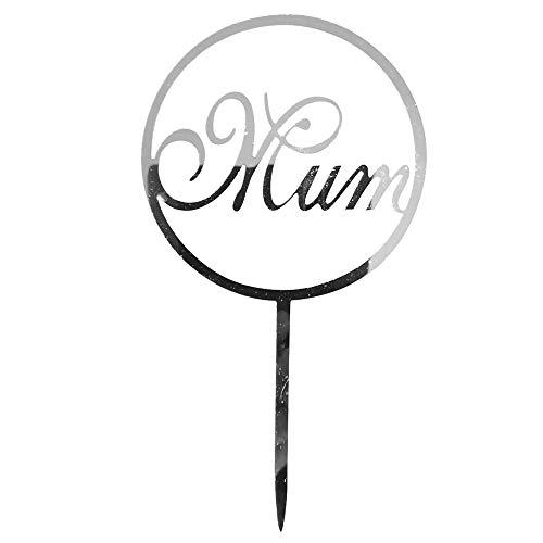 - Mother's Day Acrylic Mum Cake Toppers Sticks Cake Picks Cake Decoration
