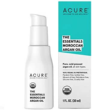 Facial Moisturizer: Acure The Essentials Moroccan Argan Oil