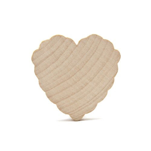 Set of 5 Thick Wood Hearts with Scallop Trim 2