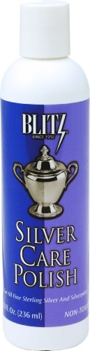 Blitz 618 Silver Care Liquid Polish for all Fine Sterling Silver, 8 Ounce, 2-Pack