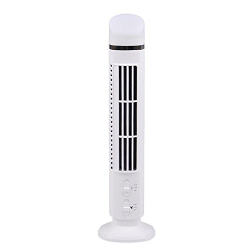 Sunshinehomely Mini Bladeless Fan, USB Chargable Air Flow Cooling Fan Air Conditioner Purifier Tower Desk Fan Low Noise by Sunshinehomely