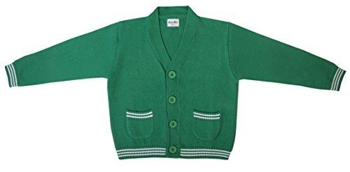 Funkoos Boys Organic Preppy Cardigan (Green) (6-12