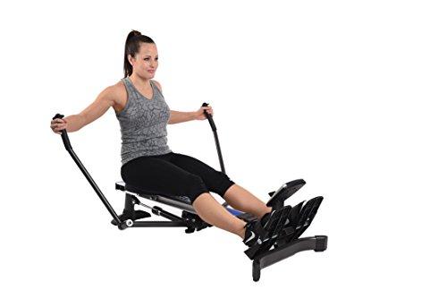 Stamina Products BodyTrac Glider 1060 Hydraulic Resistance Fitness Rower Machine, Blue