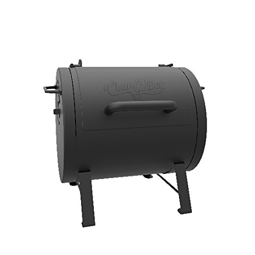 Char-Griller 250 sq inch Table Top Charcoal Grill and Smoker, Black, E72424 ()