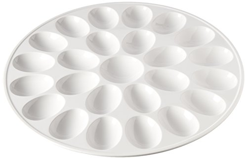 Zak Designs 12-inch White Melamine Egg Tray