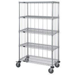 (Quantum Storage Systems - Mobile Cart w/Solid Bottom Galvanized Steel Shelf - with Rods & Tabs - - - 24