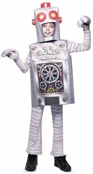 Robot Child Costume (Child's Robot Halloween Costume (Size: Small 4-6))