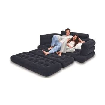Amazoncom Intex Sofa Airbed Dark Gray Home Kitchen
