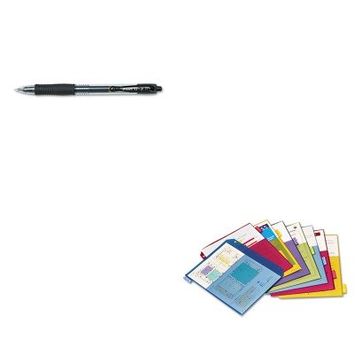 KITCRD84004PIL31020 - Value Kit - Cardinal Poly 2-Pocket Index Dividers (CRD84004) and Pilot G2 Gel Ink Pen (2 Poly Value Kit)