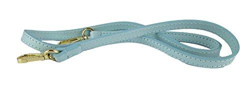 borsa da donna elegante vera pelle made in italy belt ispired celeste