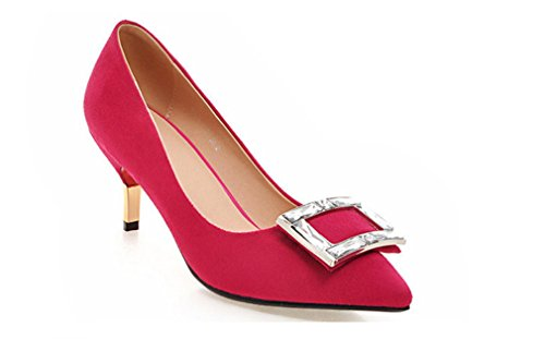 Satin 4 Talon LUCKY Mariée Lady Cm 5 Red Party Blink Chaussures Talons Mariage Hauts Filles Cadeau A Sexy Chaton Mode Femmes CLOVER De 8 Saison 7qxpra17