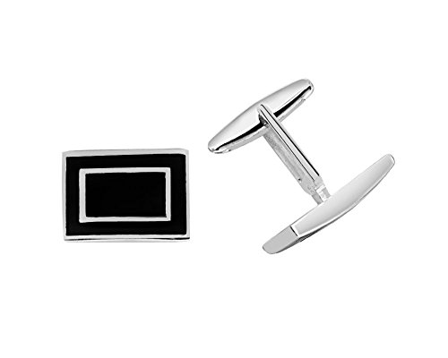 r Sterling Cuff Links (The Rectangular Style) (Sterling Silver Rectangular Cufflinks)
