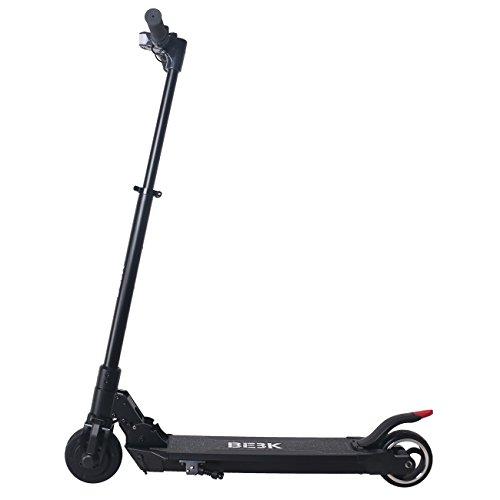 BEBK Patinete Eléctrico Plegable, Scootereléctrico E-Scooter portátil plegable con LG batería de 4.4 AH 25 km/h para adolescentes y adultos Negro (Negro) ...