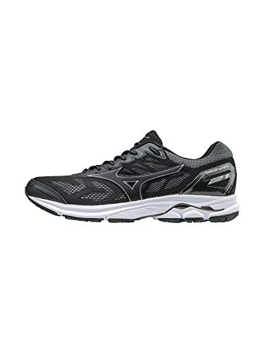 Mizuno Wave Rider 21 Men's Running Shoes, Black, 12.5 D US