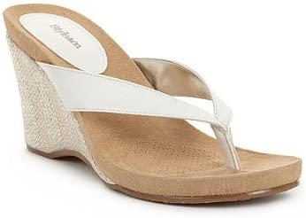 Co Women's Chicklet Wedge Sandals