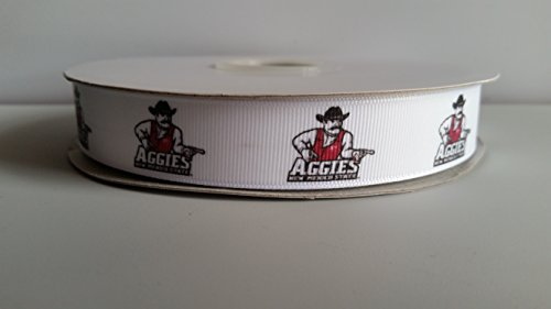 "7/8"" New Mexico Grosgrain Ribbon (Aggies)"