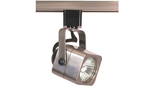 Ciata Square Track Lighting MR16 Bulb, GU10 Base 50 Watts (Brushed Nickel Finish, 1 Light)