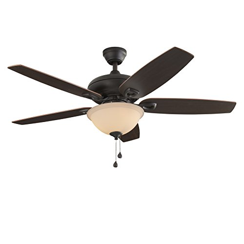 l Creek 52-in Bronze Indoor Ceiling Fan with Light Kit (Bowl Light Kit Cocoa)