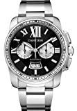 Cartier Calibre Men's Automatic Chronograph Watch with Stainless Steel Bracelet - W7100061