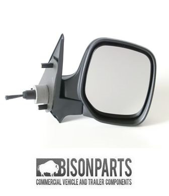 1996-2012 RH//OS Complete Mirror Head /& Glass Citroen Berlingo Manual Adjust