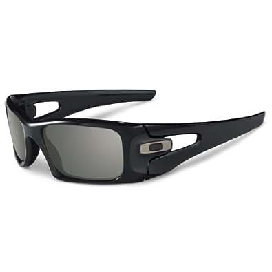 Oakley Crankcase Men's Lifestyle Designer Sunglasses - Polished Black/Warm Grey / One Size Fits All