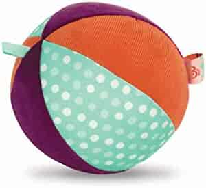 B. Toys – Make It Chime – Large Fabric Ball with Chiming Bell – Sensory Toy with Colors