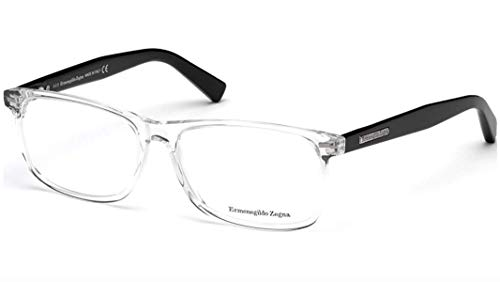 Zegna Ermenegildo Glasses - ERMENEGILDO ZEGNA EZ5056-027 ACETATE EYEGLASS FRAME Shiny Black/Crystal 55MM