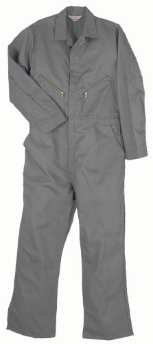 Walls Work Men's Long Sleeve Twill Coverall, Gray, 42/Regular (Barf Spaceballs Costume)