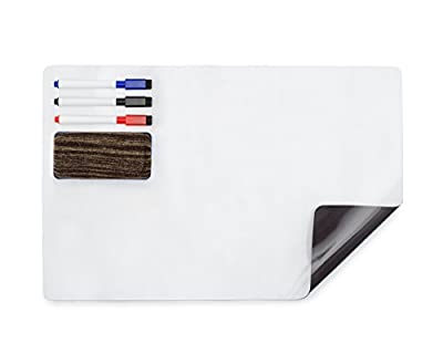 """Magnetic Dry Erase Board for Fridge - Value Pack ? 17 """"x 11"""" Refrigerator Whiteboard for Reminders, Messages, To-Do Lists"""