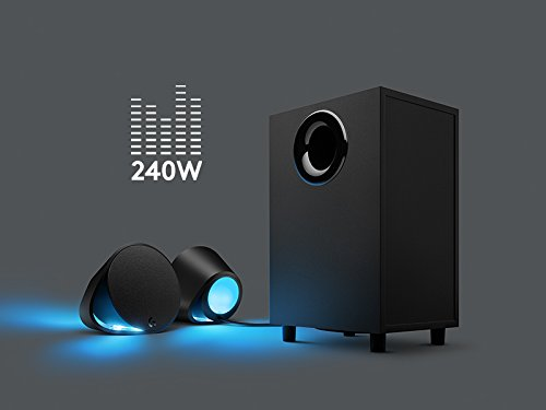 Logitech G560 LIGHTSYNC PC Gaming Speakers with Game Driven RGB Lighting by Logitech (Image #2)